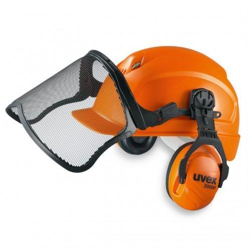 Защитная каска для работников лесного хозяйства uvex феос 9774.233